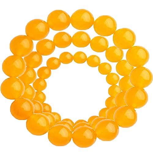 Pulsera de limpieza corporal de jaspe amarillo, cuentas antifatiga para piedra curativa de cristal curativo de Reiki, pulseras espirituales de meditación de Chakra Yoga (A+B+C, 3PCS)