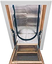 Magicfly Attic Stairway Insulator, 25 x 54 x 11 Inch Pull Down Stairs Cover, R-Value of 14.5, XPE, Silver