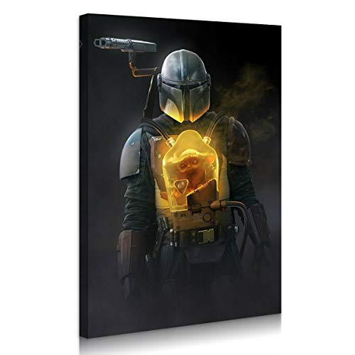 Mandalorian Baby Yoda Canvas Wall Art