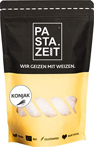 PASTAZEIT Bio Konjak Nudel Spaghetti (8 x 400g) - No Carb Nudeln, Weizenfrei, Vegan, Low Carb, Kein Fett - Kalorienarme Nudeln, nur 5 kcal, kohlenhydratfrei, Shirataki Nudeln