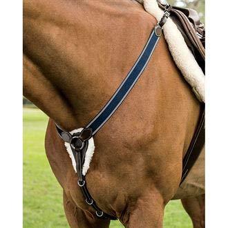 Dover Saddlery Elastic Jumper Breastplate, Horse, Brown