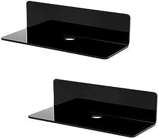 Originalidad Acrylic Floating Wall Mount Shelves, Non-Drilling Wall Floating Shelves,3M Self-Adhesive Display Shelves for ...