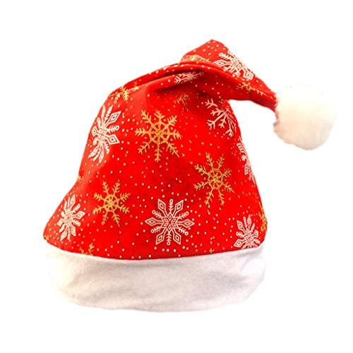 FSFG Decoraciones de Navidad Niños Adultos Sombreros de Navidad Sombrero de Navidad Niños Adultos Decoraciones Regalo de Alta Grado Doble Felpa Sombrero Adulto Niños Sombreros de Navidad