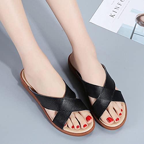 Kirin-1 Zapatillas De Casa para Mujer Verano,Zapatillas De Novia,Zapatillas De Cuero para...