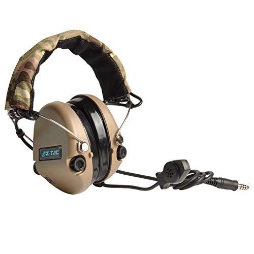 NOUVEAU Imperm/éable Z tactique Airsoft Bowman Elite II casque PTT pour Kenwood 2Pin Radio DE WorldShopping4U