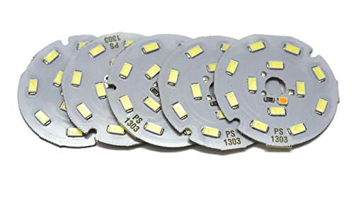 Electronicspices Round White Colour LED Strip with Charging Indicator , Pack of 5