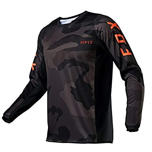 Jerseys de Descenso para Hombre Hpit Fox Mountain Bike MTB Camisetas Offroad Motocicleta Jersey Ropa Bicicleta Camiseta de Hombre para Ciclismo de montaña, Motocross, Downhill, Enduro Cross S