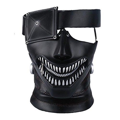 Yacn Tokyo Ghoul Mask, 2017 Movie Kaneki Ken Mask con Adjustable Zipper, 3D Mask Japón Anime Cosplay Mask