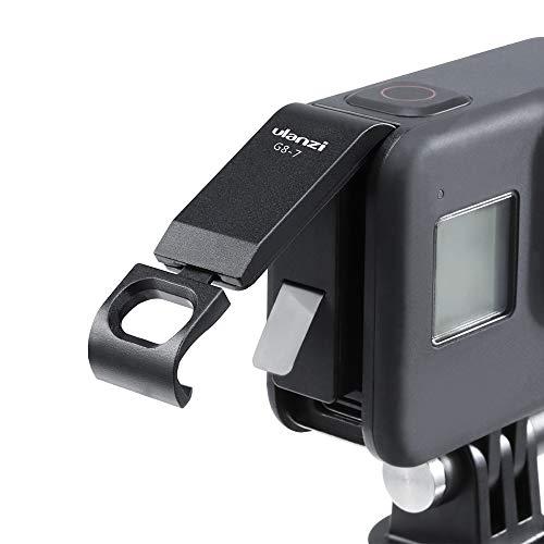 ULANZ G8-7 Batteriefachdeckel Abnehmbarer Ladeanschluss-Adapter Typ C Aluminiumlegierung für GoPro Hero Schwarz 8