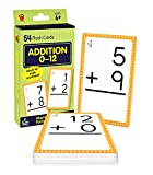 Carson Dellosa Addition 0-12 Flash Cards—Grades 1-3, Addition Facts With Numbers 0-12, 100 Math Problems, Double-Sided Cards, Math Facts for Ages 6+ (54 pc)