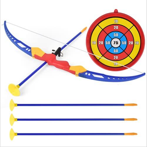 Locisne Set di Giocattoli Freccia con Arco con Ventosa Bersaglio Frecce Funzione Giocattolo Gioco Sportivo Pratica Giocattoli all'aperto per Bambini sopra i 3 Anni di età