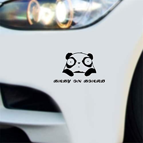 sticker voiture 16.9X10Cm Panda Bear Funny Cartoon Décalque Bébé À Bord La Sécurité Panneau Tout Le Corps Autocollant De Voiture pour voiture ordinateur portable fenêtre autocollant