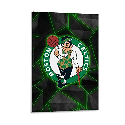 XIXILI Boston Celtics Basketball Player Basketball Star The Team Logo Basketball Poster Basketball Poster Decorative Painting Canvas Wall Art Living Room Posters Bedroom Painting 08x12inch(20x30cm)