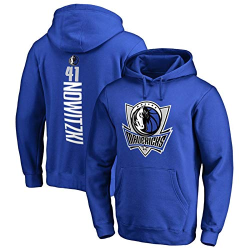 VBSD Mavericks #6 Porzingis #41 Nowitzki - Sudadera con capucha para hombre con capucha, para entrenar, jersey de baloncesto y deportes con capucha #41 Nowitzki 1-XXL