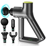 Massage Gun PRO – 2021 All-New 5th Generation Percussive Therapy Deep Tissue Muscle Treatment Electric Hammer Massager