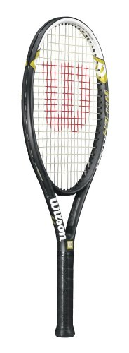 Wilson Tennisschläger, Hyper Hammer 5.3, Anfänger und Freizeitspieler, Griffstärke L3, Schwarz/Weiß/Grün, WRT58610U3