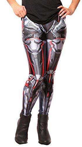 Belsen Damen Deadpool Elastic Leggings Pants Bleistifthosen (3D)