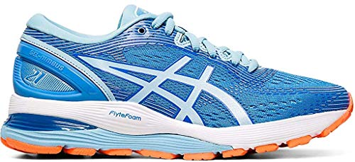 ASICS Women's Gel-Nimbus 21 Running Shoes, 9M, Blue Coast/Skylight