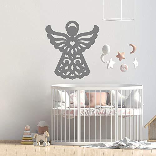 HGFDHG Alas Pegatinas de Pared para habitación de niños calcomanías de Pared de guardería Lindas para la decoración del hogar Sala de Estar patrón de Troquelado de ángel