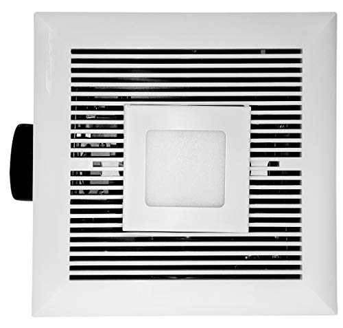 Tatsumaki LD-120 Electric Bathroom Fan - 120 CFM Ultra Quiet Exhaust & Ventilation Fan with 6W LED Light for Improved Airflow & Air Circulation – Suitable for 120 sqft Room