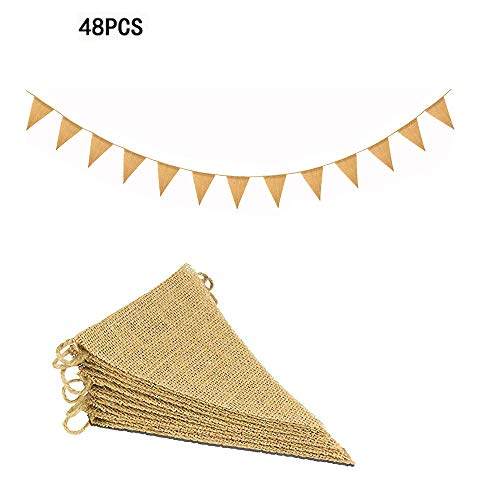 11M/48 Pcs Banderas Triangulares, ideal para Decoración de fiestas de Cumpleaños, Ceremonias,...