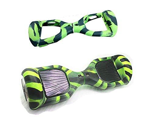 Vert/noir de protection en silicone anti-rayures Coque Housse skin pour 6,5 pouces Smart Scooter électrique auto-équilibrage Hover Board