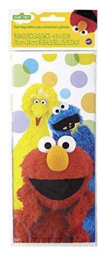 Wilton 16 Count Sesame Street Treat Bags, Multicolor