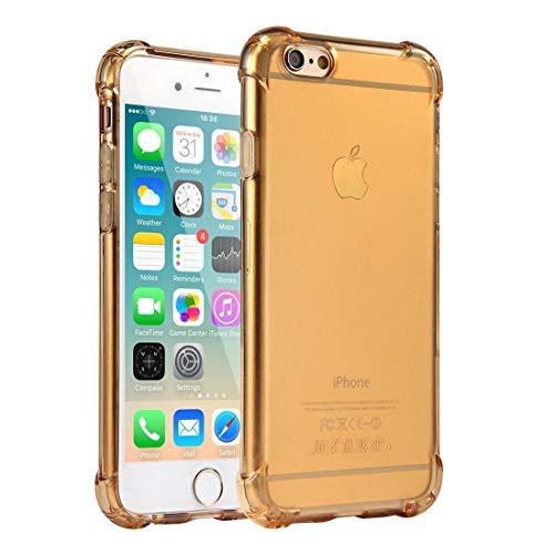 Jenuos Cover iPhone 6 Plus / 6S Plus, Custodia Trasparente Antiurto Paraurti Silicone Trasparente Cover TPU per iPhone 6 Plus / 6S Plus 5.5' - Oro (6P-TPU-GD)