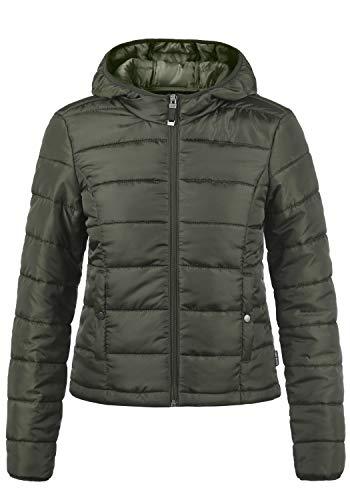 VERO MODA Pamela Damen Übergangsjacke Steppjacke leichte Jacke gefüttert mit Kapuze, Größe:M, Farbe:Peat