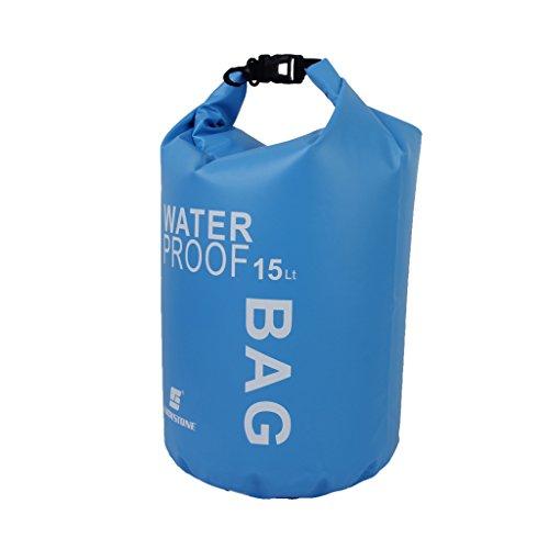 Non-Brand 2-5l Stockage étanche à l'eau Sèche Cas Sac Pochette pour Le Kayak Piscine Camping Rafting - Bleu, Taille Unique
