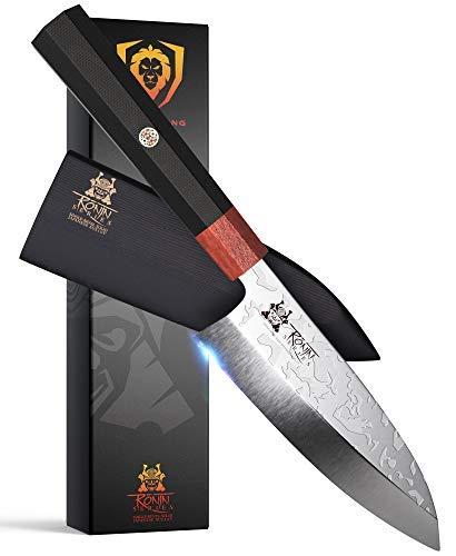 DALSTRONG Edles Deba Messer - Damaszener - Damastmesser - 15 cm - Shogun Series S - aus Japanischem AUS-10V Super Stahl - Scheide