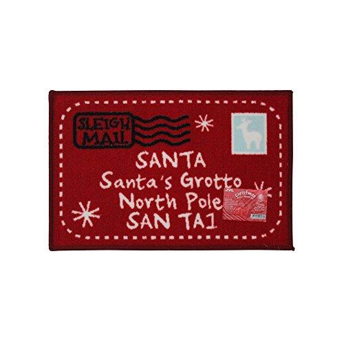JVL–Navidad Papá Noel Carta se Puede Lavar a máquina. Felpudo (40x 60cm), Color Rojo