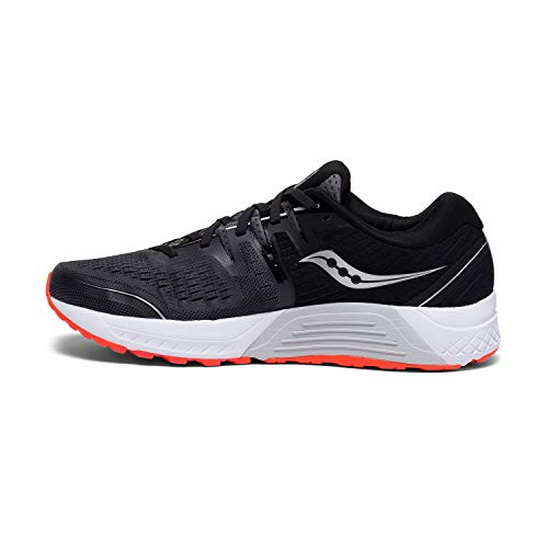 Saucony Men's Guide ISO 2 Running Shoe, Black | Grey, 9 M US