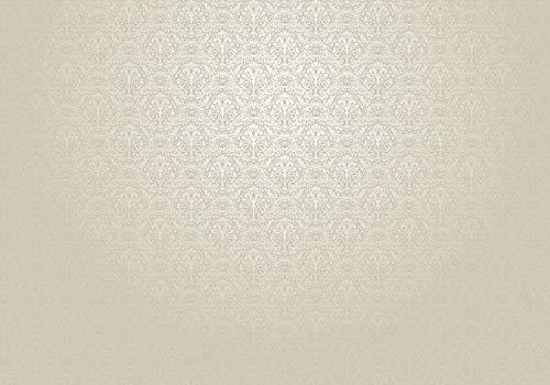 wandmotiv24 Fototapete Barock Muster Ornament, M 250 x 175 cm - 5 Teile, Fototapeten, Wandbild, Motivtapeten, Vlies-Tapeten, edel, beige, vintage M0306