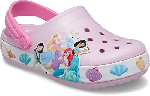 Crocs Kids' Disney Princess Light Up Clog | Disney Light Up Shoes , Ballerina Pink, 9 Toddler