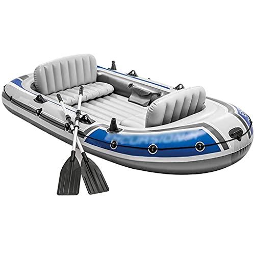 ZXQZ Kayak Kayac, Kayak Hinchable 4 Personas con Tienda Canoa Inflable Blow Up Kayak para La Pesca De Surf De Verano