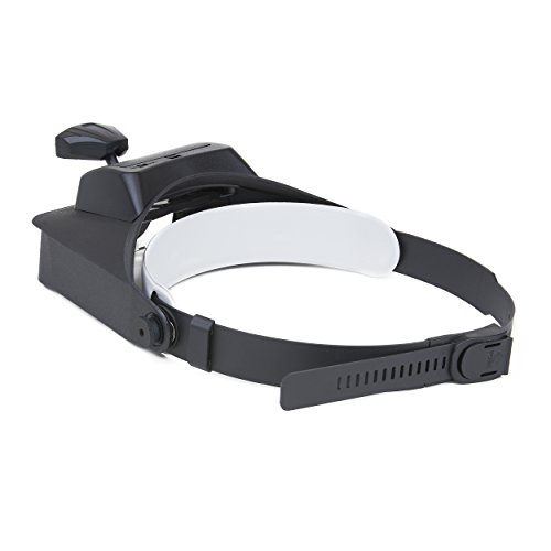 Carson LumiVisor Head Magnifier - Head Visor with LED Lighted Magnifier (2x/3x/5x/6x)  (LV-10)
