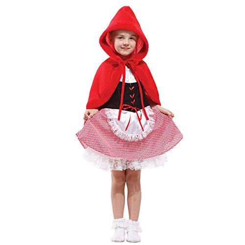 MAATCHH-TGKT Halloween Kostüm- Märchen-Kostüm Netter Kleiner Rotkäppchen-Hut-Frau, Halloween-Abendkleid (Größe : XL)