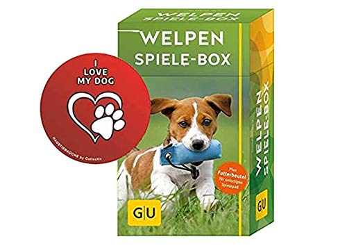 GU Welpen-Spiele-Box: Plus Futterbeutel für sofortigen Spielspaß Tier-Box Taschenbuch + gratis I Love My Dog Sticker by Collectix