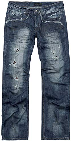 Forplay Salomon Männer Jeans dunkelblau W34L34 100% Baumwolle Casual Wear