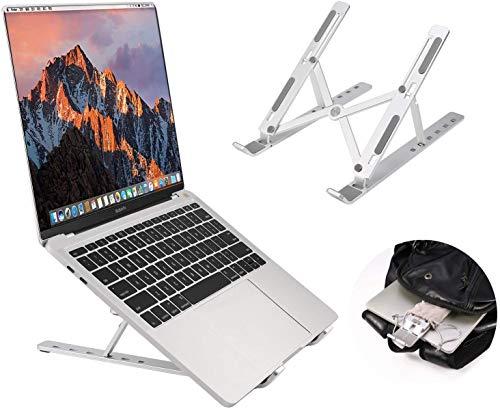 Supporto PC Portatile, Angolazione Regolabile Portatile Pieghevole PC Stand, Alluminio Ventilato Supporto per MacBook PRO MacBook Air iPad Laptop Huawei Matebook D HP Altri 10-15.6  Laptop Tablet iPad