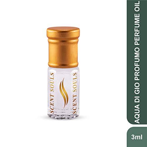 Scent Souls Aqua Di Gio Profumo Long Lasting Attar Fragrance Perfume Oil For Men- 3 ml
