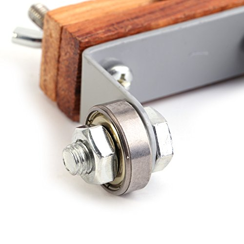 Guía de sacapuntas, hecha de madera y acero 85 * Afilador de cuchillos de piel de afilar para carpintería Sacapuntas de cuchillos de tallado