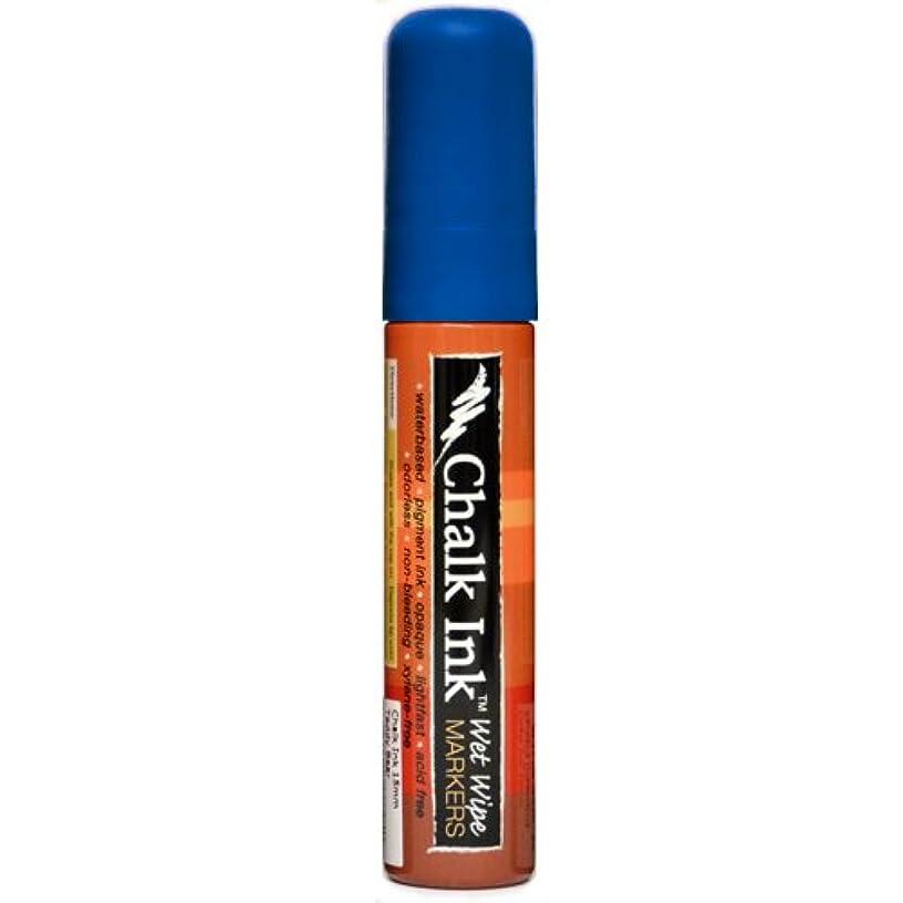 Chalk Ink Bold Wet Wipe Marker, 15 mm, Pacific Blue