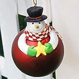 YOUHU Adornos Navideños,Adornos Navideños Bola Roja Encantador Muñeco De Nieve Estrella Decoraciones Navideñas Árbol Colgante Decoraciones Colgantes Regalos Juguete para Niños Suministros para Fiest