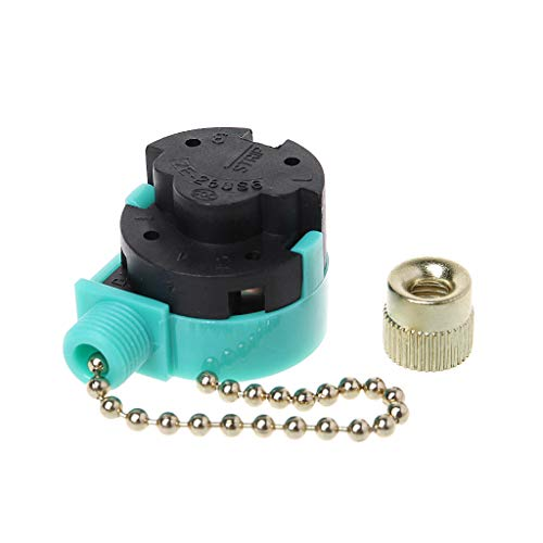 LANDUM - Interruptor de 3 velocidades de 3 A/250 V 6 A/125 V con cierre de níquel para ventilador de pared, lámpara de techo, gabinete, control de luz, interruptor de cierre