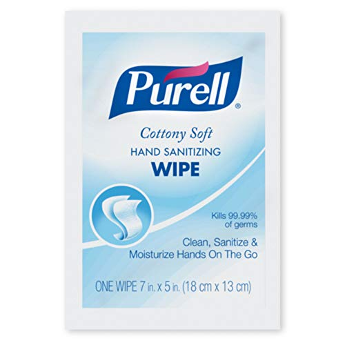 PURELL Cottony Soft Hand Sanitizing Wipes, 1000 Individually Wrapped Hand Sanitizing Wipes in Bulk Packed Shipper - 9026-1M