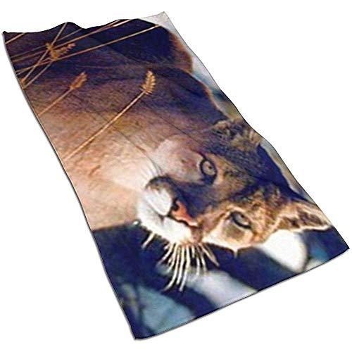 Not applicable Wilder Puma im Schnee-Tier-Gebirgsgesichts-Tuch, Handtuch, Geschirrtuch-Teller 3D Design Pattern Towel