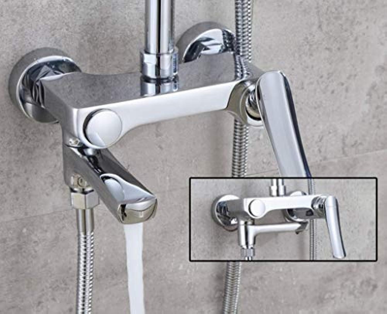 LHW Shower Set Che-Set, In-Wall Viergang-Hot & Cold Dusche, Multifunktions-Badezimmer Sprinkler, Dusche, Aufzug Dusche, Bad Dusche