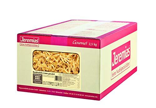 Jeremias Bandnudeln 4 mm gewalzt, Gourmet Frischei-Nudeln, 1er Pack (1 x 2.5 kg Karton)